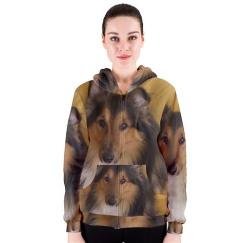 Shetland Sheepdog Women s Zipper Hoodie