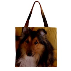 Shetland Sheepdog Zipper Grocery Tote Bag