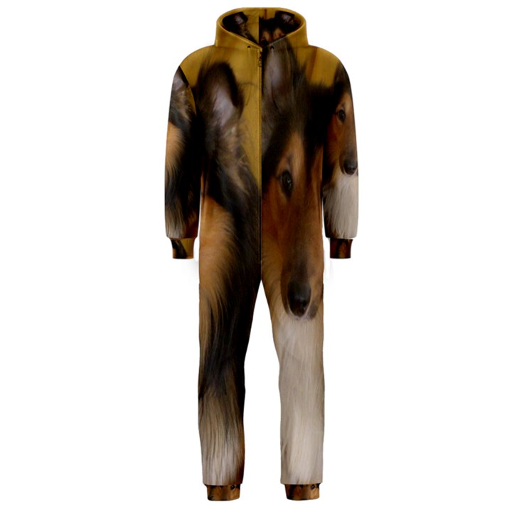 Shetland Sheepdog Hooded Jumpsuit (Men)