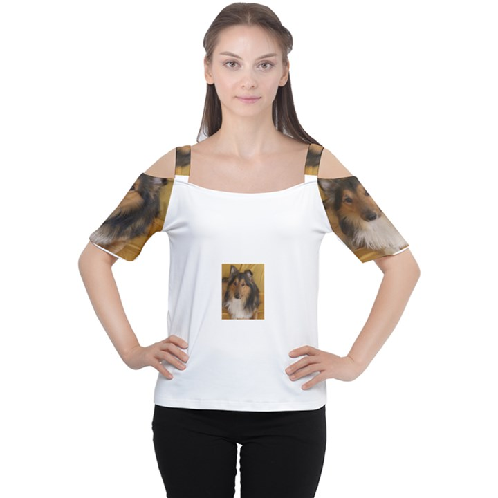 Shetland Sheepdog Women s Cutout Shoulder Tee