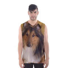 Shetland Sheepdog Men s Basketball Tank Top