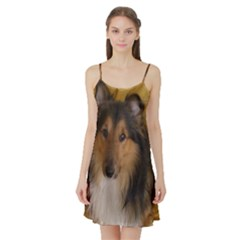 Shetland Sheepdog Satin Night Slip