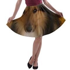 Shetland Sheepdog A-line Skater Skirt