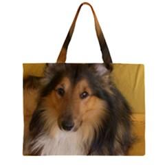 Shetland Sheepdog Large Tote Bag