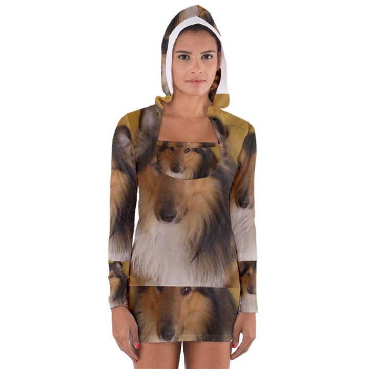 Shetland Sheepdog Women s Long Sleeve Hooded T-shirt