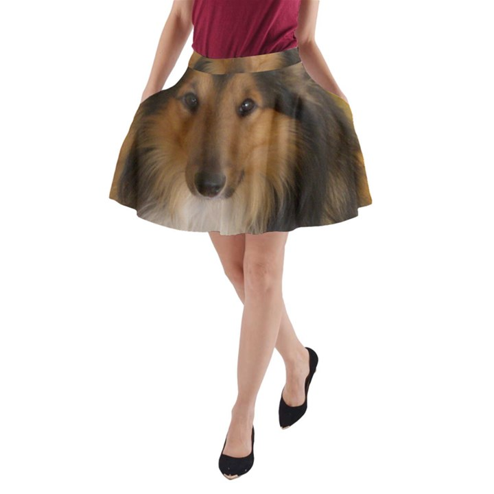 Shetland Sheepdog A-Line Pocket Skirt