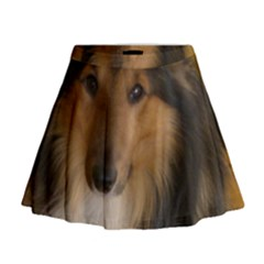 Shetland Sheepdog Mini Flare Skirt