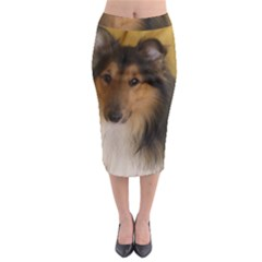 Shetland Sheepdog Midi Pencil Skirt