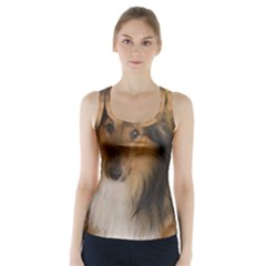 Shetland Sheepdog Racer Back Sports Top