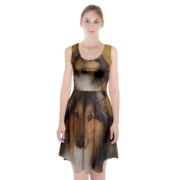 Shetland Sheepdog Racerback Midi Dress