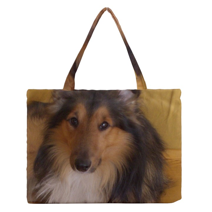 Shetland Sheepdog Medium Zipper Tote Bag