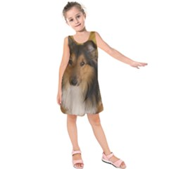 Shetland Sheepdog Kids  Sleeveless Dress