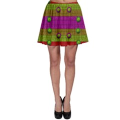 A Wonderful Rainbow And Stars Skater Skirt