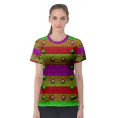 A Wonderful Rainbow And Stars Women s Sport Mesh Tee