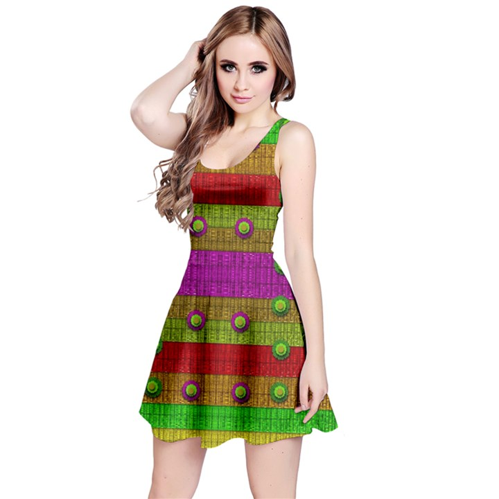 A Wonderful Rainbow And Stars Reversible Sleeveless Dress