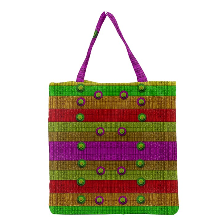 A Wonderful Rainbow And Stars Grocery Tote Bag
