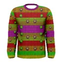 A Wonderful Rainbow And Stars Men s Long Sleeve Tee View1