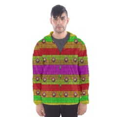 A Wonderful Rainbow And Stars Hooded Wind Breaker (men)