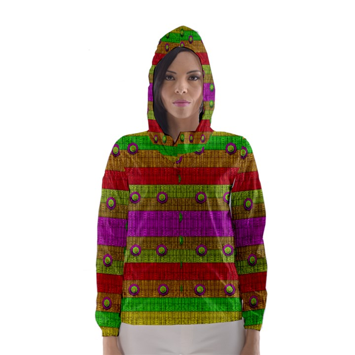 A Wonderful Rainbow And Stars Hooded Wind Breaker (Women)