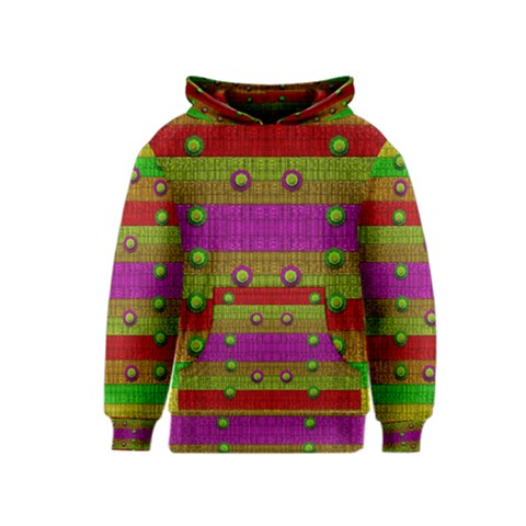 A Wonderful Rainbow And Stars Kids  Pullover Hoodie