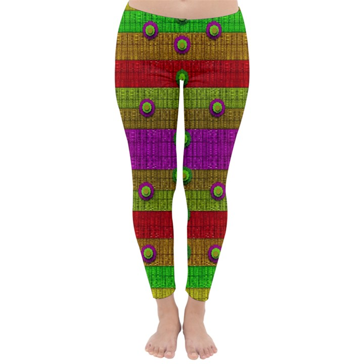 A Wonderful Rainbow And Stars Winter Leggings