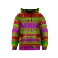 A Wonderful Rainbow And Stars Kids  Zipper Hoodie