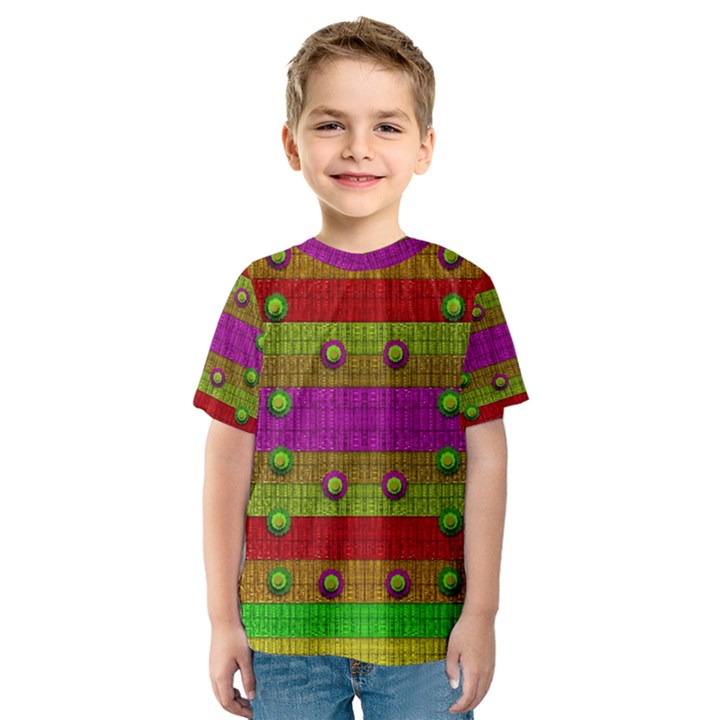 A Wonderful Rainbow And Stars Kids  Sport Mesh Tee