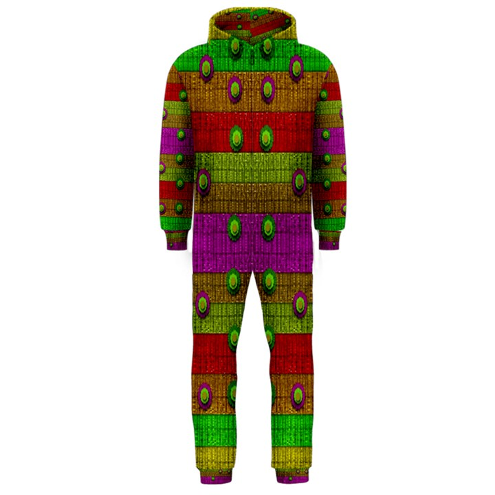 A Wonderful Rainbow And Stars Hooded Jumpsuit (Men)