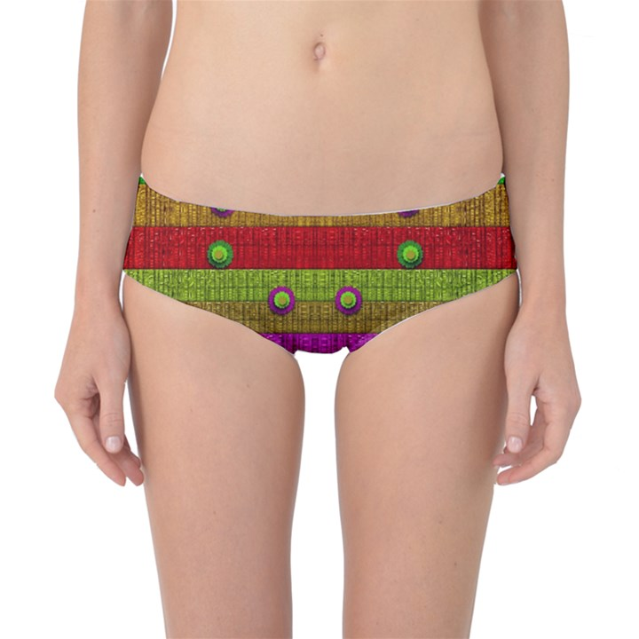 A Wonderful Rainbow And Stars Classic Bikini Bottoms