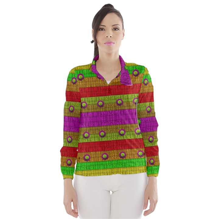 A Wonderful Rainbow And Stars Wind Breaker (Women)