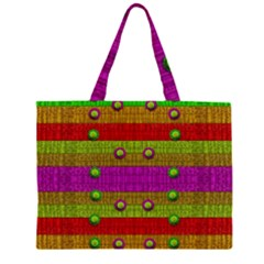 A Wonderful Rainbow And Stars Large Tote Bag