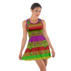 A Wonderful Rainbow And Stars Cotton Racerback Dress