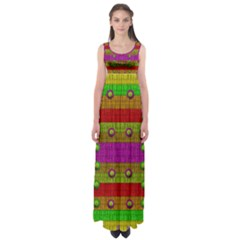 A Wonderful Rainbow And Stars Empire Waist Maxi Dress