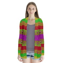 A Wonderful Rainbow And Stars Drape Collar Cardigan