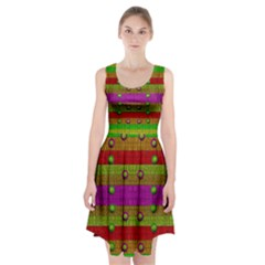 A Wonderful Rainbow And Stars Racerback Midi Dress