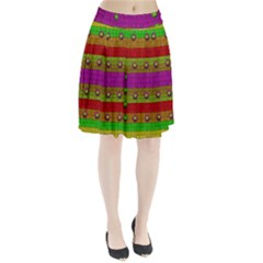 A Wonderful Rainbow And Stars Pleated Skirt