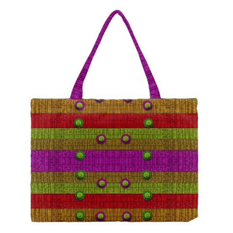 A Wonderful Rainbow And Stars Medium Tote Bag