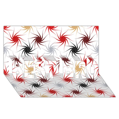 Pearly Pattern BEST BRO 3D Greeting Card (8x4)