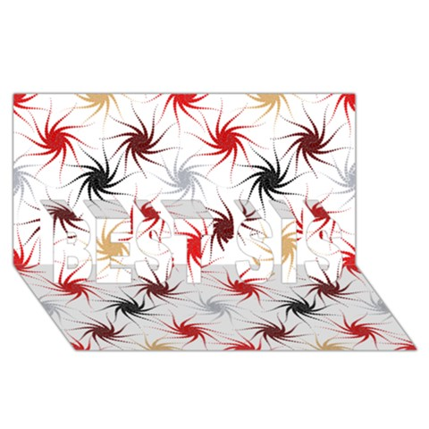 Pearly Pattern BEST SIS 3D Greeting Card (8x4)