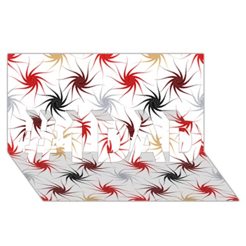 Pearly Pattern #1 DAD 3D Greeting Card (8x4)