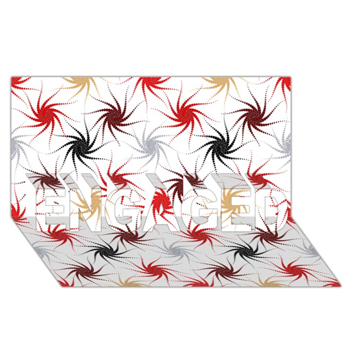 Pearly Pattern ENGAGED 3D Greeting Card (8x4)