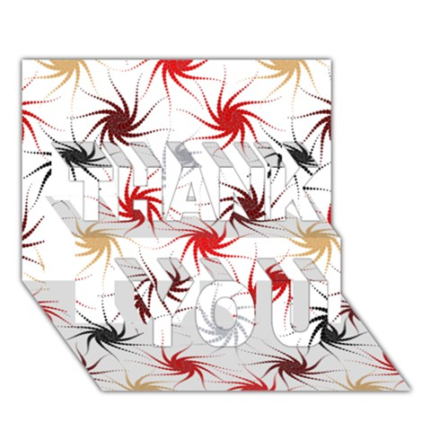 Pearly Pattern THANK YOU 3D Greeting Card (7x5)