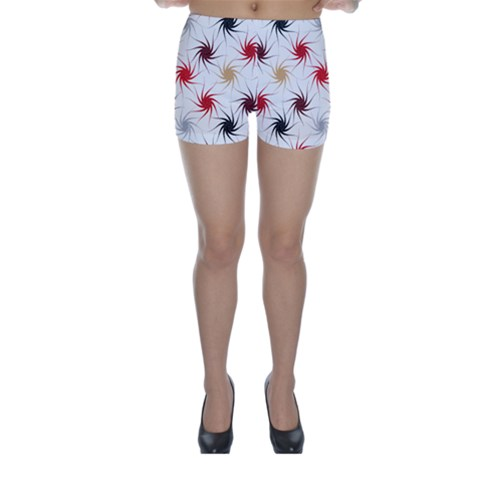 Pearly Pattern Skinny Shorts
