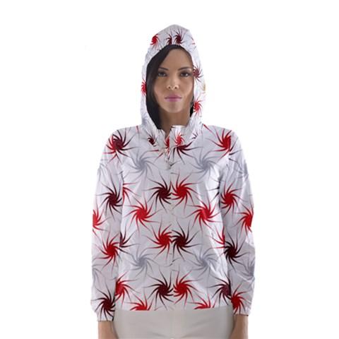 Pearly Pattern Hooded Wind Breaker (Women)