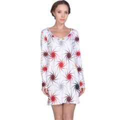 Pearly Pattern Long Sleeve Nightdress