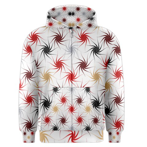 Pearly Pattern Men s Zipper Hoodie