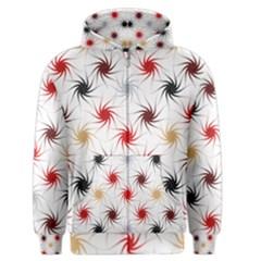 Pearly Pattern Men s Zipper Hoodie