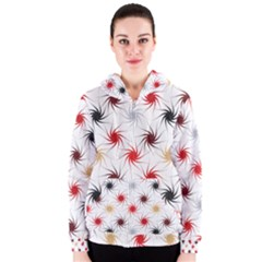 Pearly Pattern Women s Zipper Hoodie