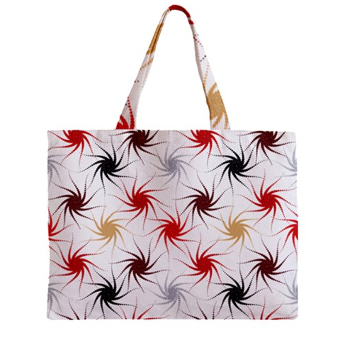 Pearly Pattern Zipper Mini Tote Bag