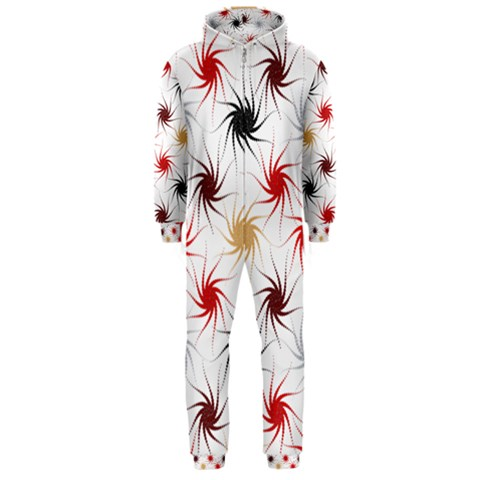 Pearly Pattern Hooded Jumpsuit (Men)
